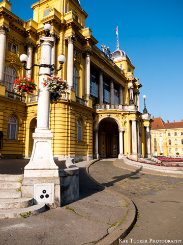 The Croatian National Theatre in Zagreb.